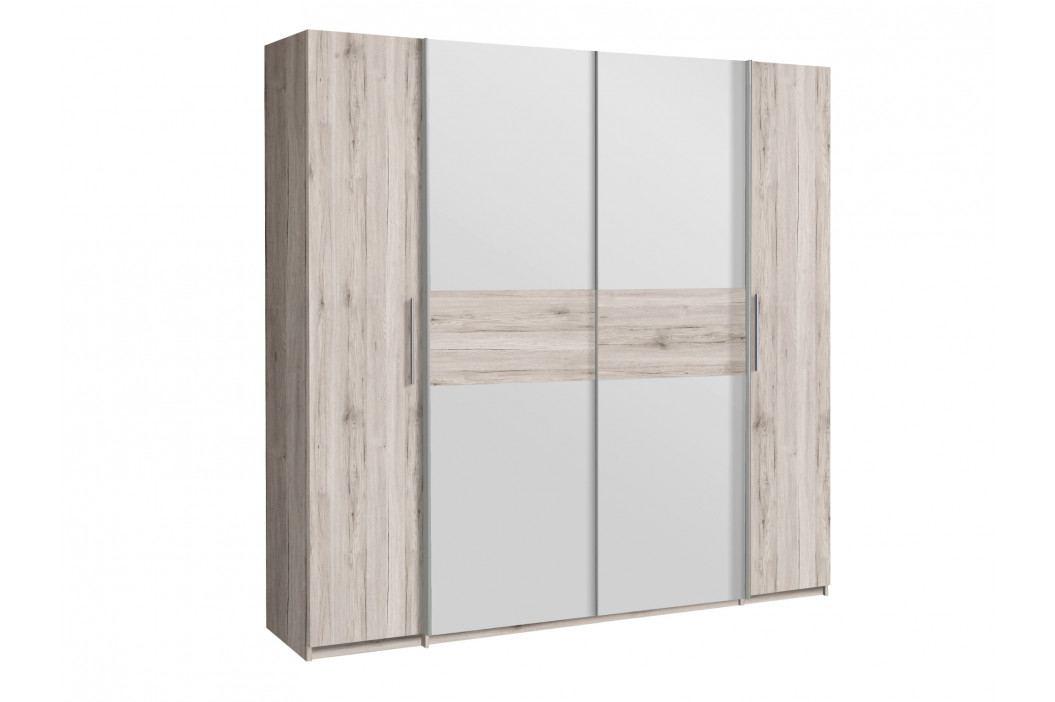 CALIDO šatní skříň CIDS52311, dub pískový/bílá