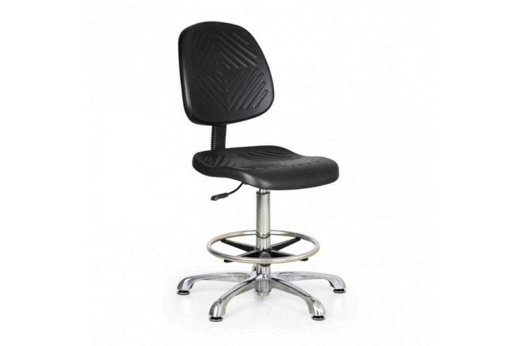 B2B Partner Pracovní židle PUR Classic, vysoká, kovový kříž