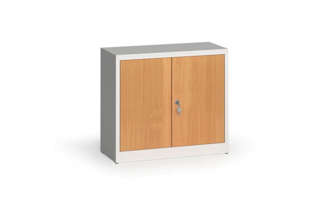 Alfa 3 Svařované skříně s lamino dveřmi, 800 x 920 x 400 mm, RAL 7035/buk