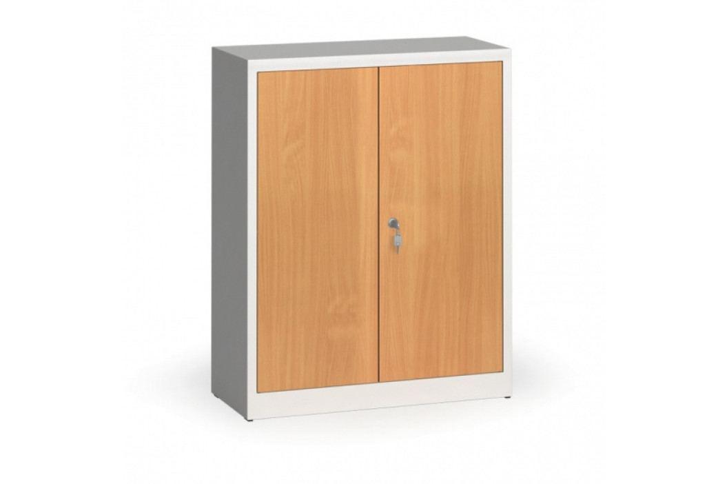 Alfa 3 Svařované skříně s lamino dveřmi, 1150 x 920 x 400 mm, RAL 7035/buk