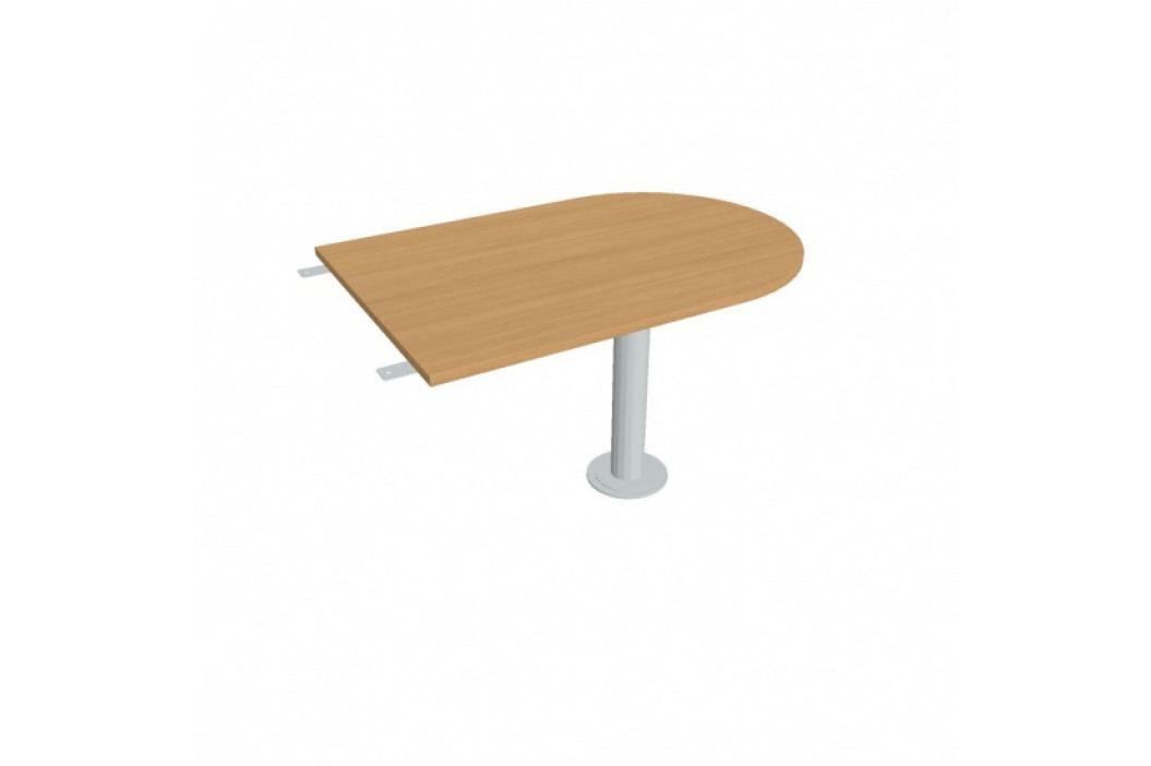 HOBIS Stůl jednací ukončený obloukem, buk obrázek inspirace