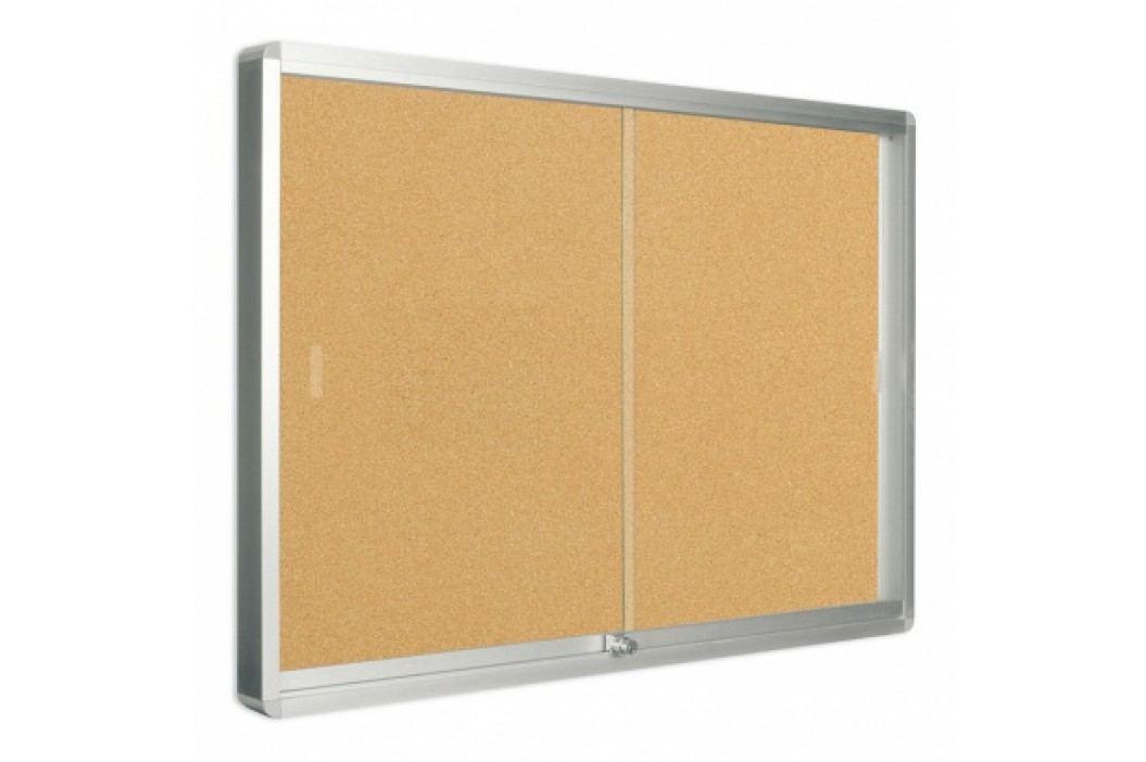 Bi-Office Vitrína s posuvnými dveřmi, korková, 967x706 mm