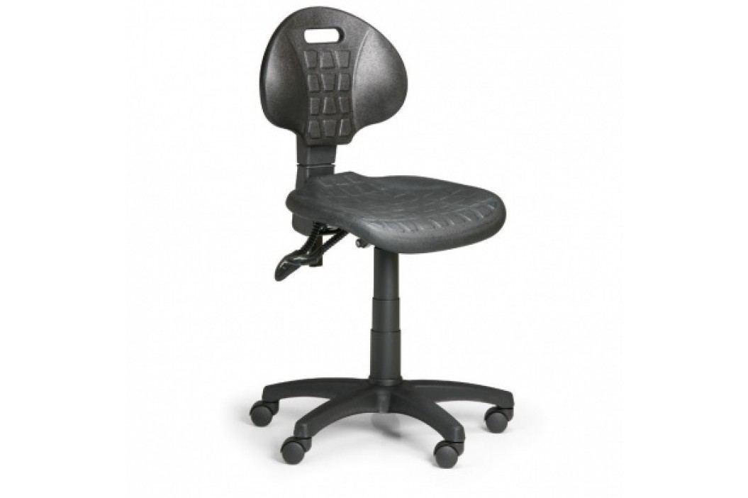 Pracovní židlle PUR, asynchronní mechanika, pro měkké podlahy