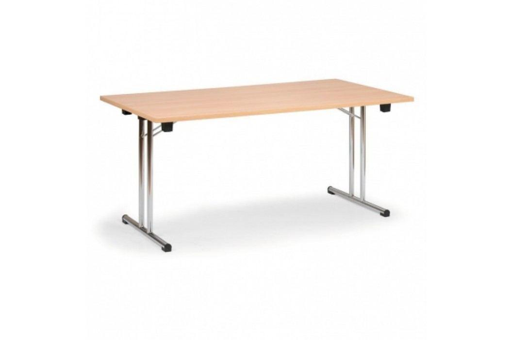 Skládací konferenční stůl, dezén buk