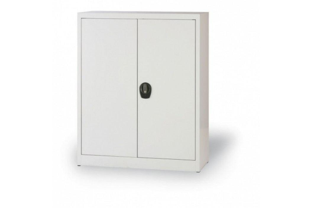 Alfa 3 Plechová skříň, 1150x800x400 mm, 2 police, šedá/šedá