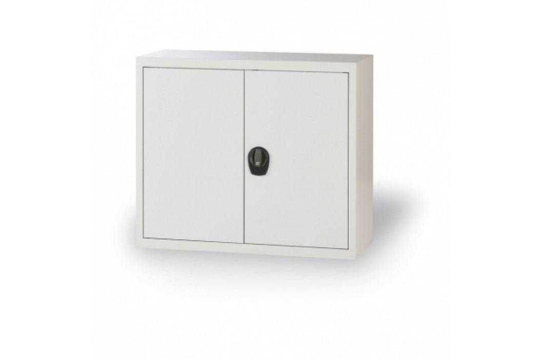 Alfa 3 Plechová skříň, 800x800x400 mm, 1 police, šedá/šedá