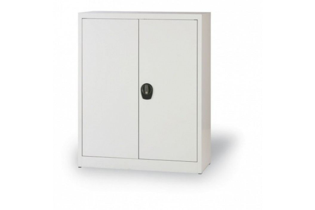 Alfa 3 Plechová skříň, 1150x1200x400 mm, 2 police, šedá/šedá