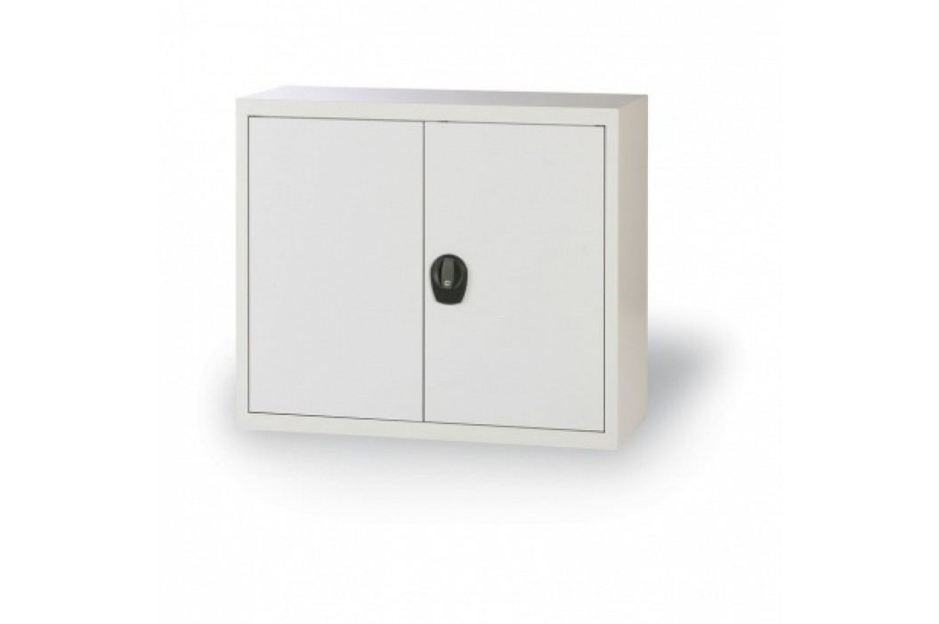 Alfa 3 Plechová skříň, 800x1200x400 mm, 1 police, šedá/šedá