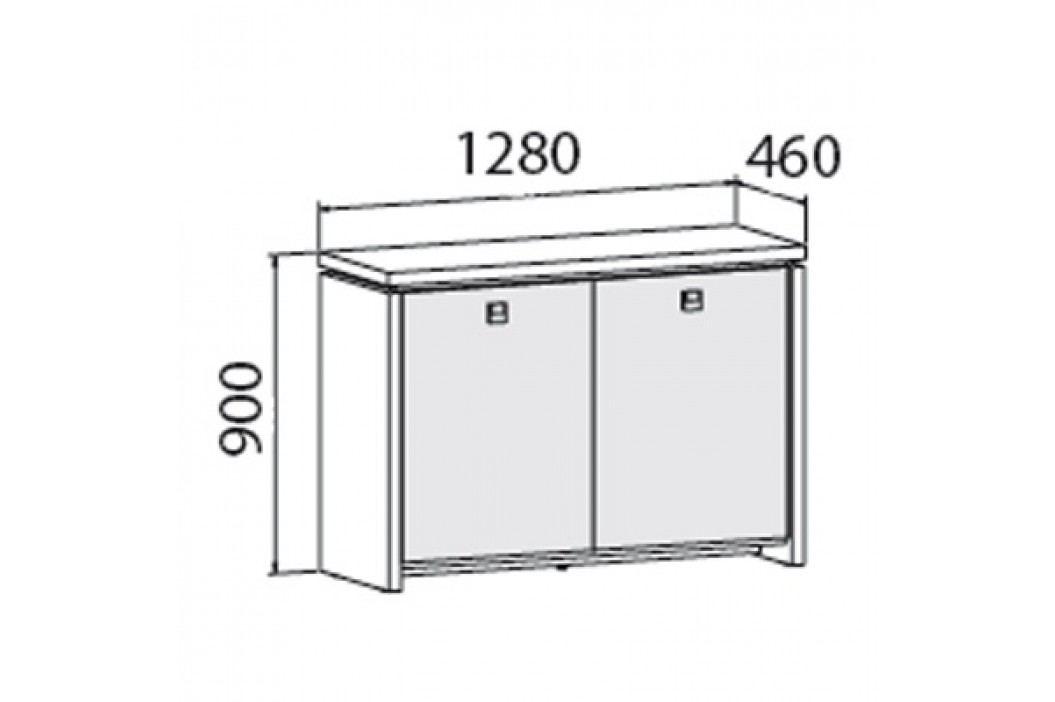EXNER Skříň dvoudveřová - prosklená