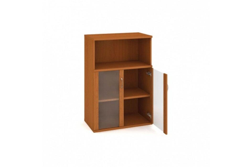 HOBIS Skříňka dvoudveřová - policová prosklená s nikou