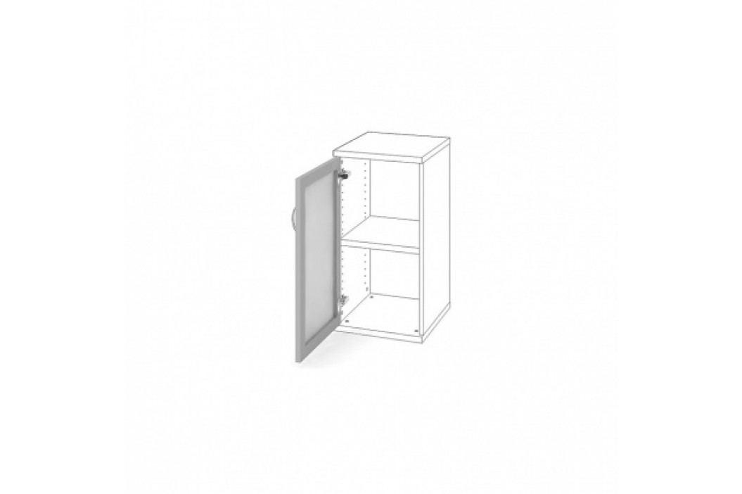HOBIS Dveře AL rám s mléčným sklem levé