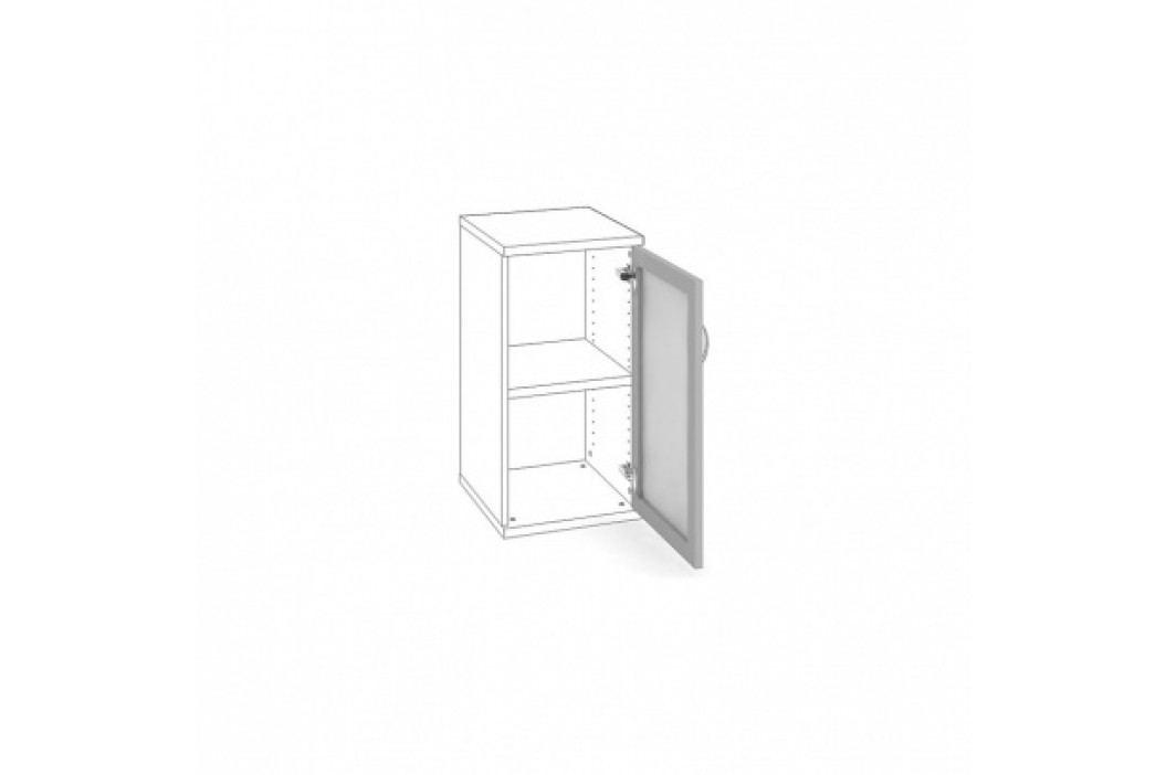 HOBIS Dveře AL rám s mléčným sklem pravé
