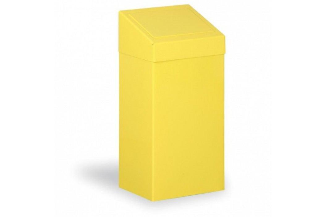 Kovovna Kovový odpadkový koš na tříděný odpad, 45 L, žlutý