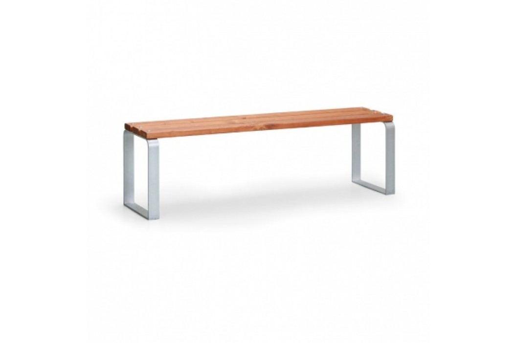 Parková lavička MEZZO bez opěradla, délka 1,5 m