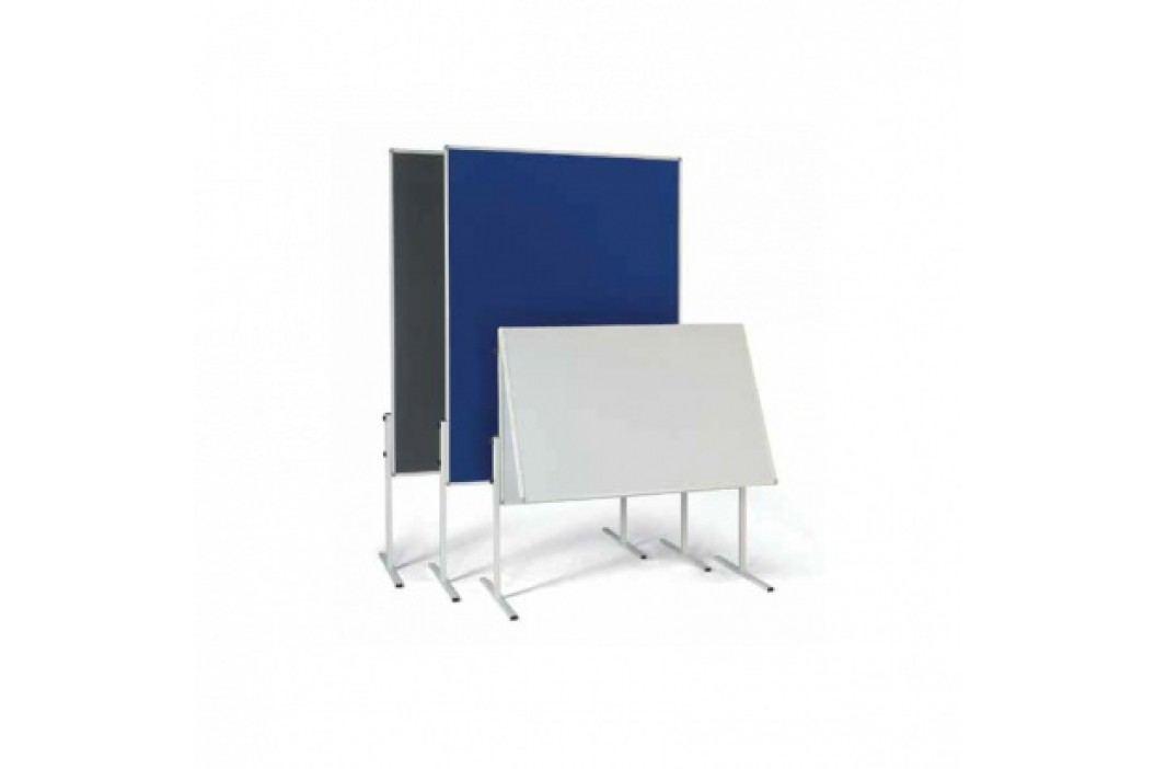 Informační a moderační tabule, textilní, modrá, nesklopná