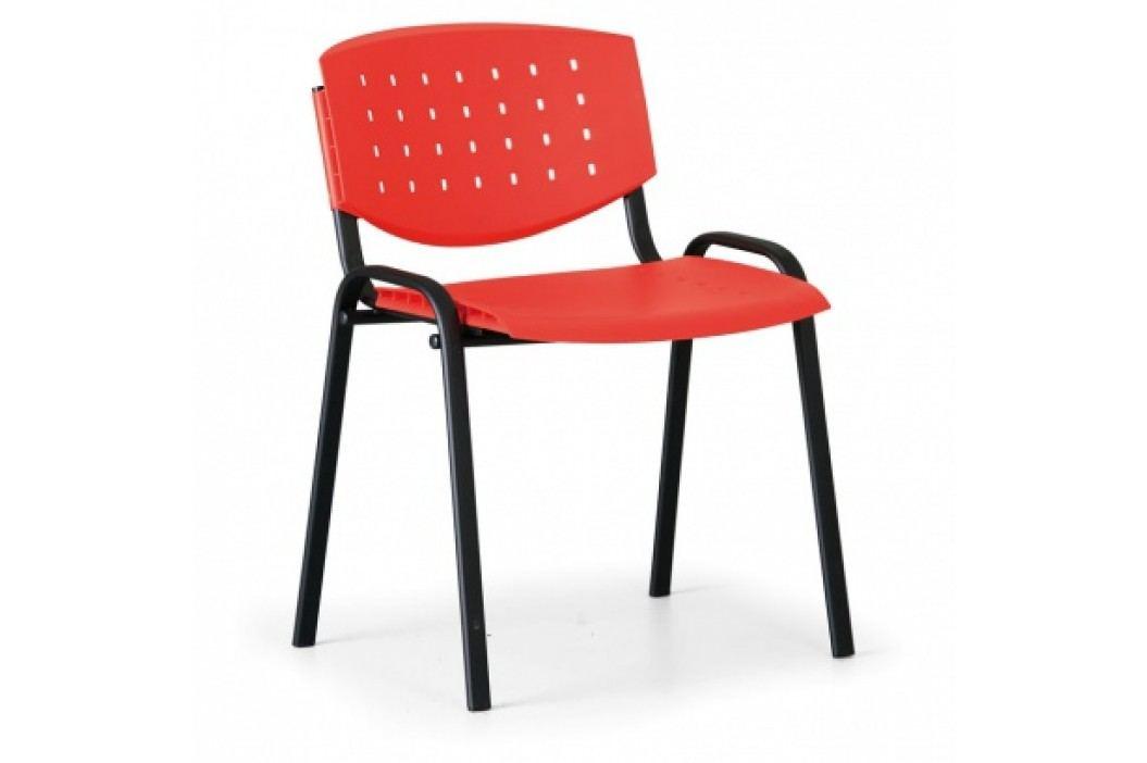Antares Jednací židle Tony, červená - konstrukce černá