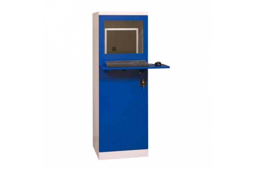 Dílenská skříň pro PC s venkovní policí na klávesnici