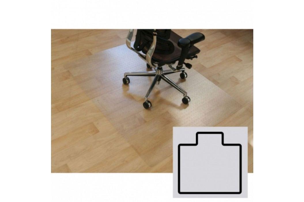 Podložka pod židli na hladké podlahy - Polykarbonát, tvar T, 1340 x 1200 mm
