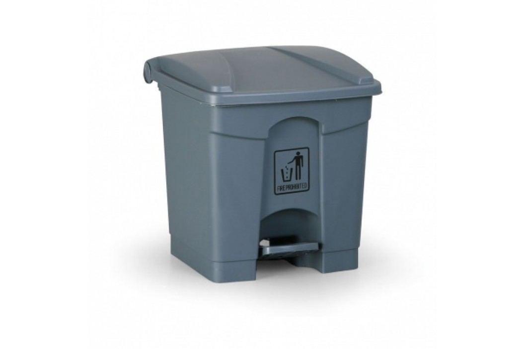 Nášlapný víceúčelový koš 30 litrů, šedý