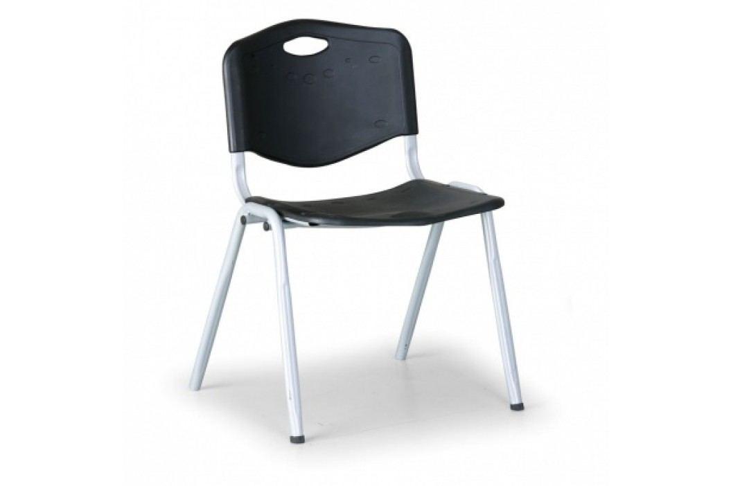 Plastová jídelní židle HANDY, černá