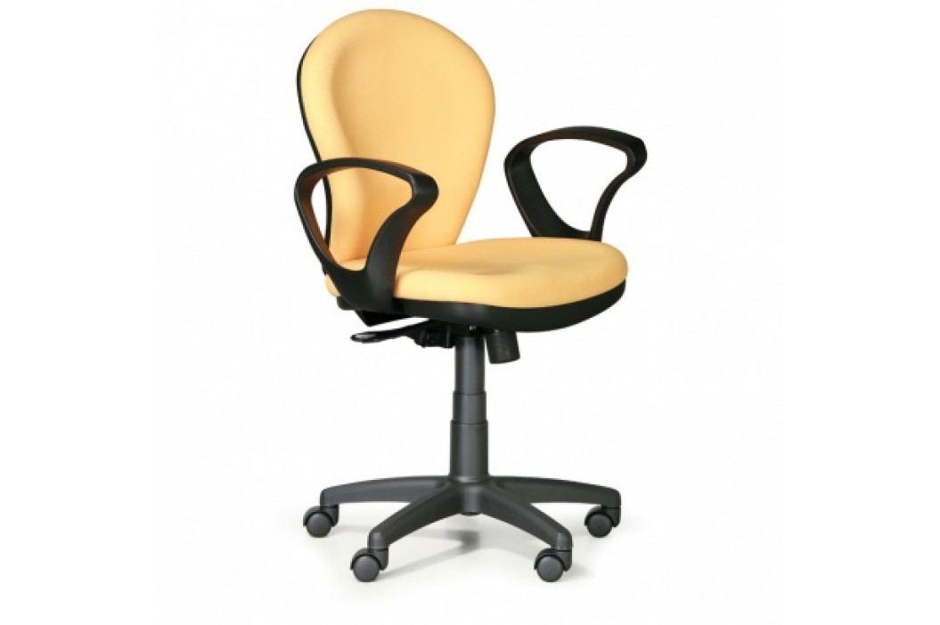 Kancelářská židle Lea, žlutá