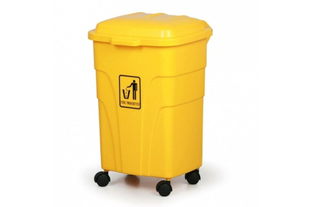 Mobilní odpadkový koš 70 litrů, žlutý