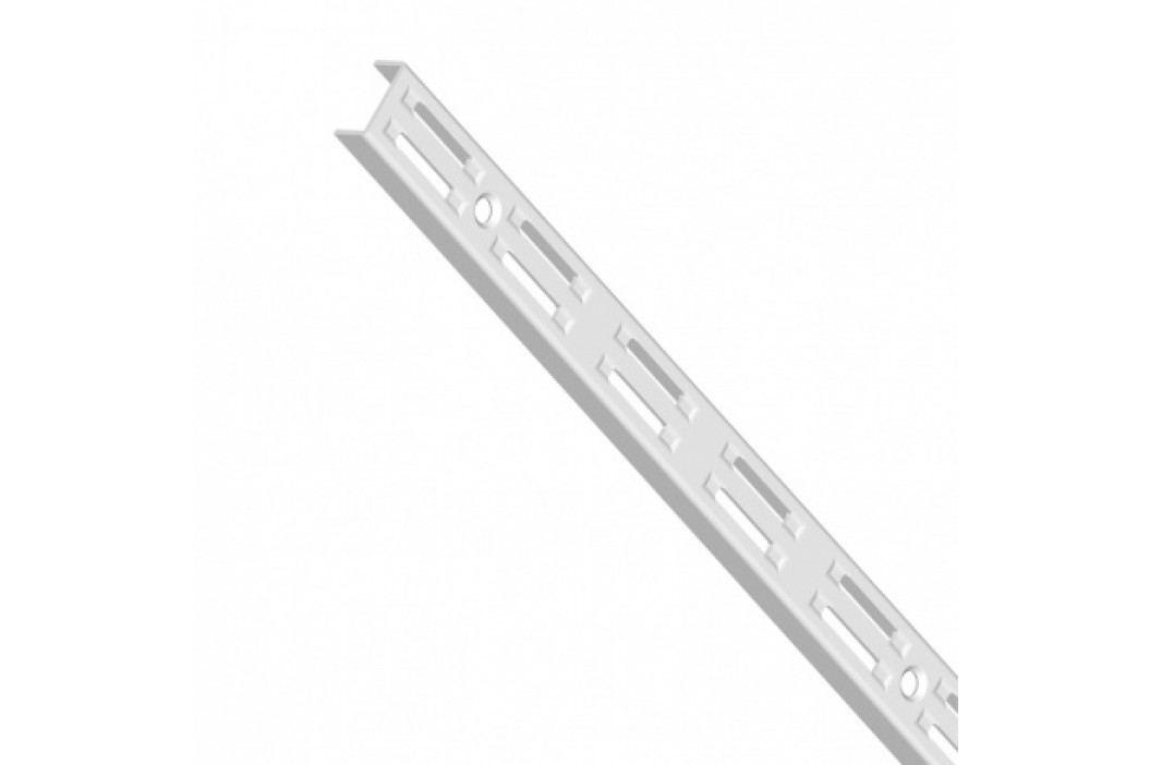 Element System Stojina s dvouřadým děrováním, 500 mm, bílá