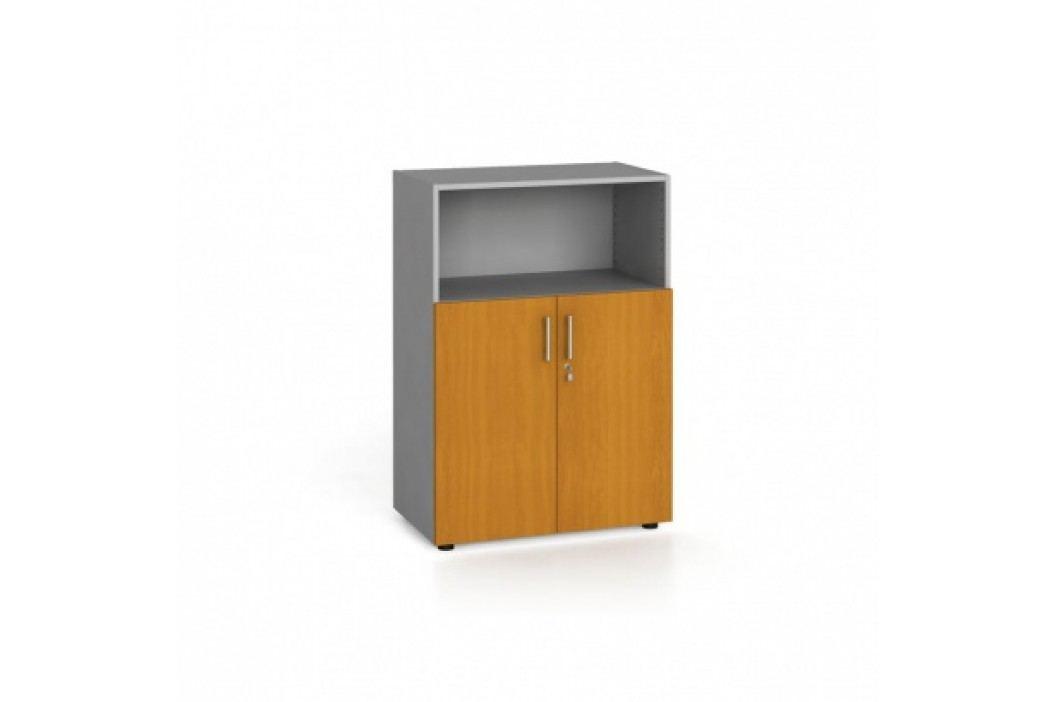 Kancelářská skříň kombinovaná, 1087x800x420 mm, třešeň
