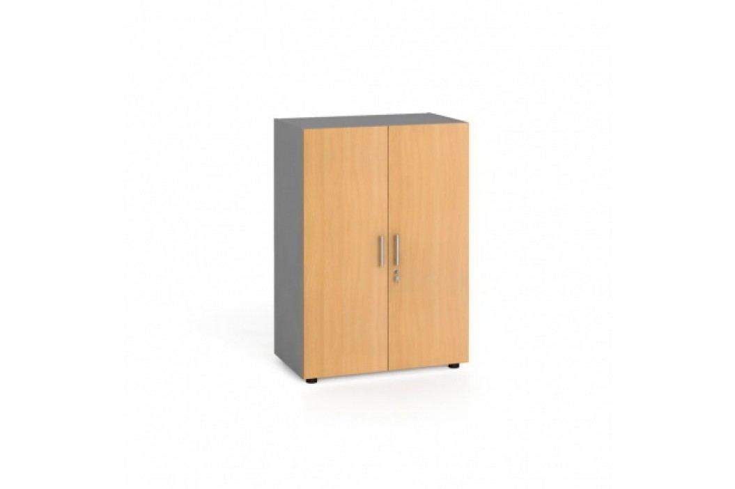 Kancelářská skříň s dveřmi, 1087x800x420 mm, buk