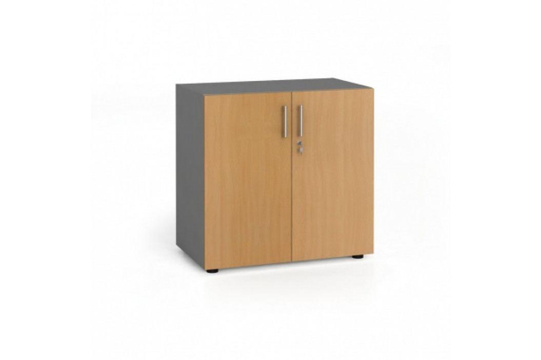 Kancelářská skříň s dveřmi, 740x800x420 mm, buk