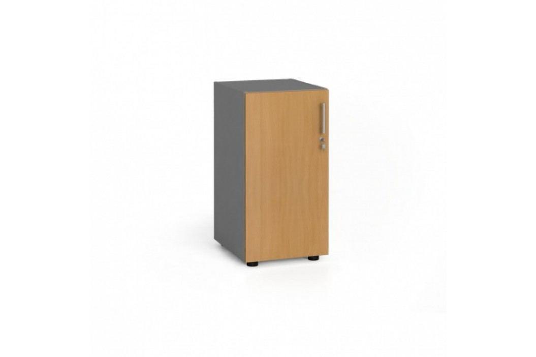 Kancelářská skříň s dveřmi, 740x400x420 mm, buk