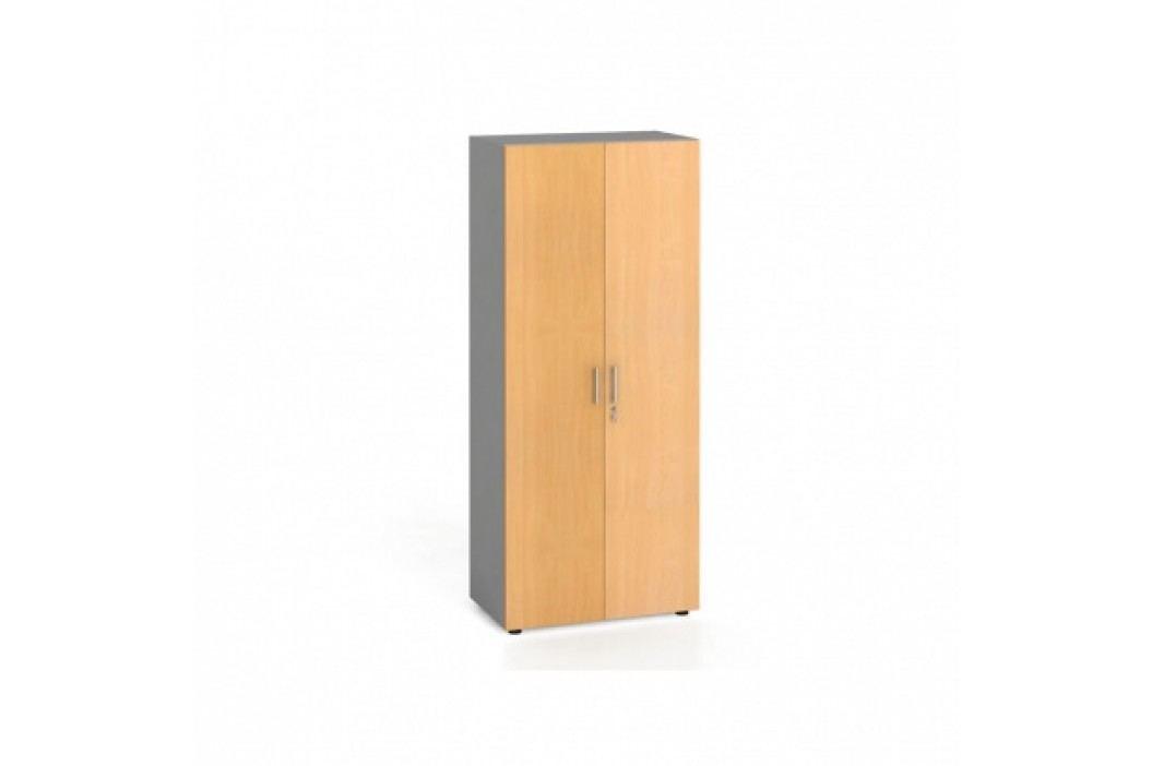 Kancelářská skříň s dveřmi, 1781x800x420 mm, buk