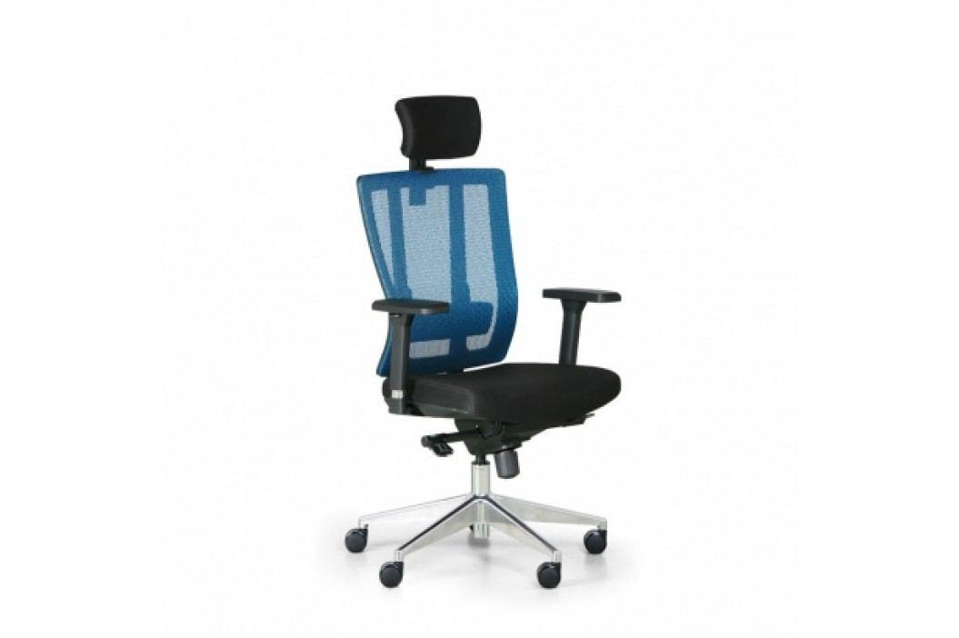 Kancelářská židle Metrim, černá/modrá