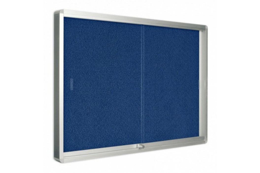 Bi-Office Vitrína s posuvnými dveřmi, textilní, 967x706 mm