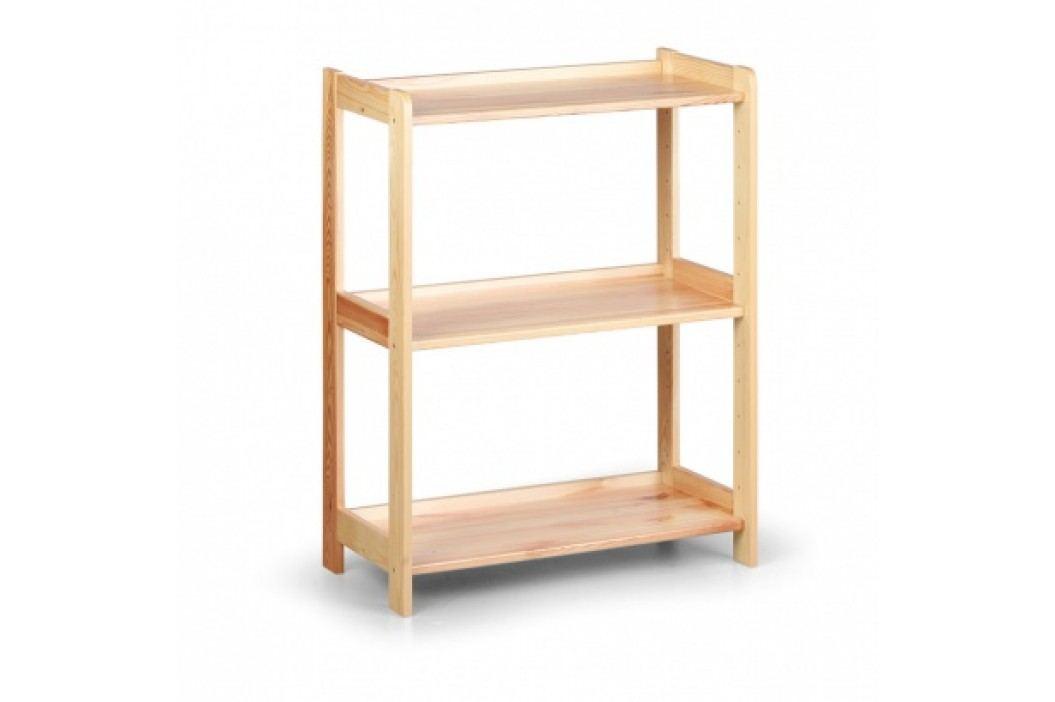 Dřevěný regál, 3 police, 890x680x335 mm