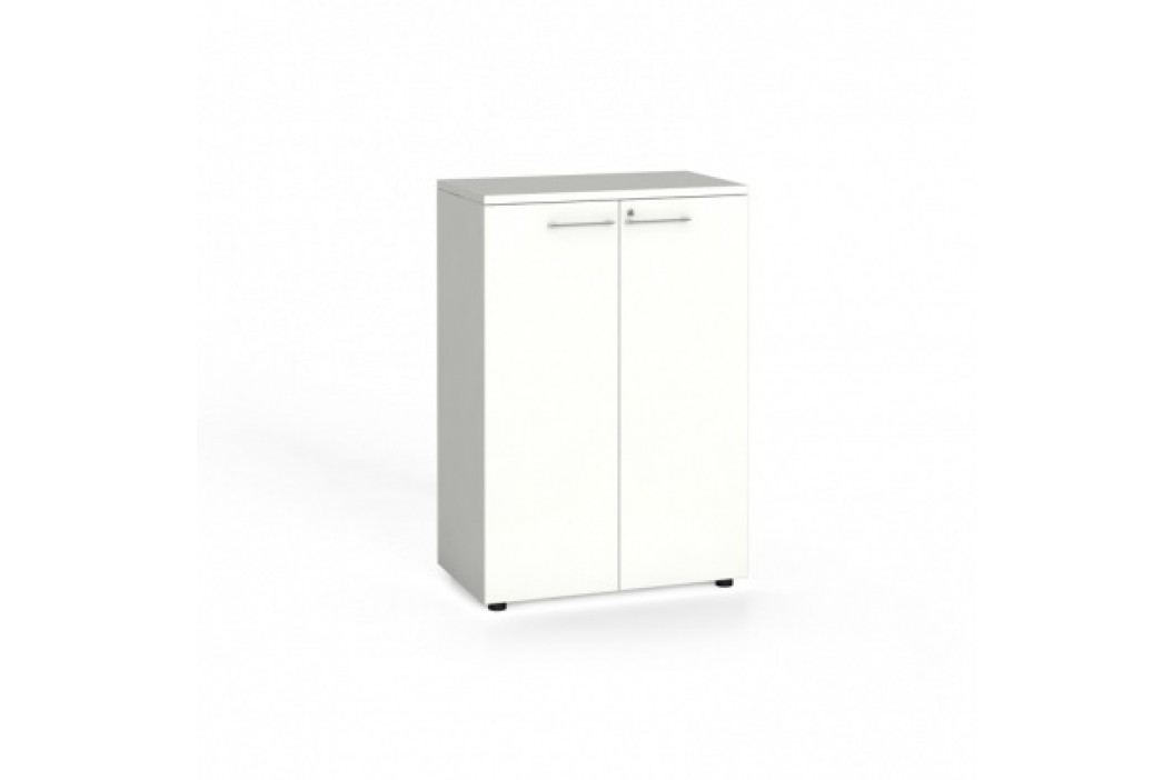 Kancelářská skříň s dveřmi, 1087x800x420 mm, bílá