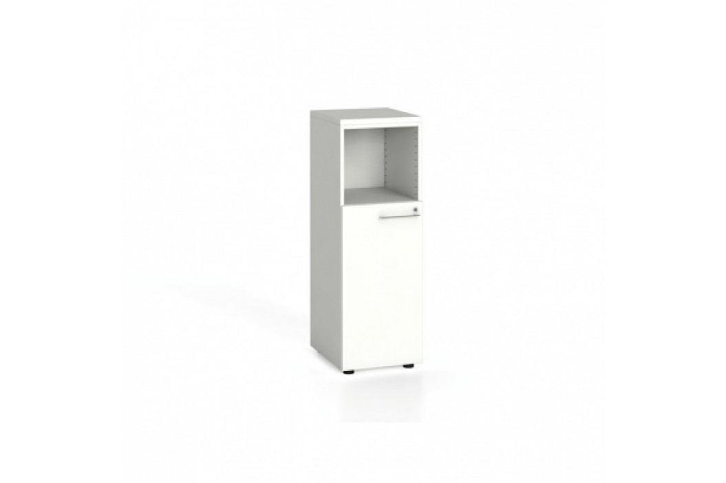 Kancelářská skříň kombinovaná s dveřmi, 1087x400x420 mm, bílá