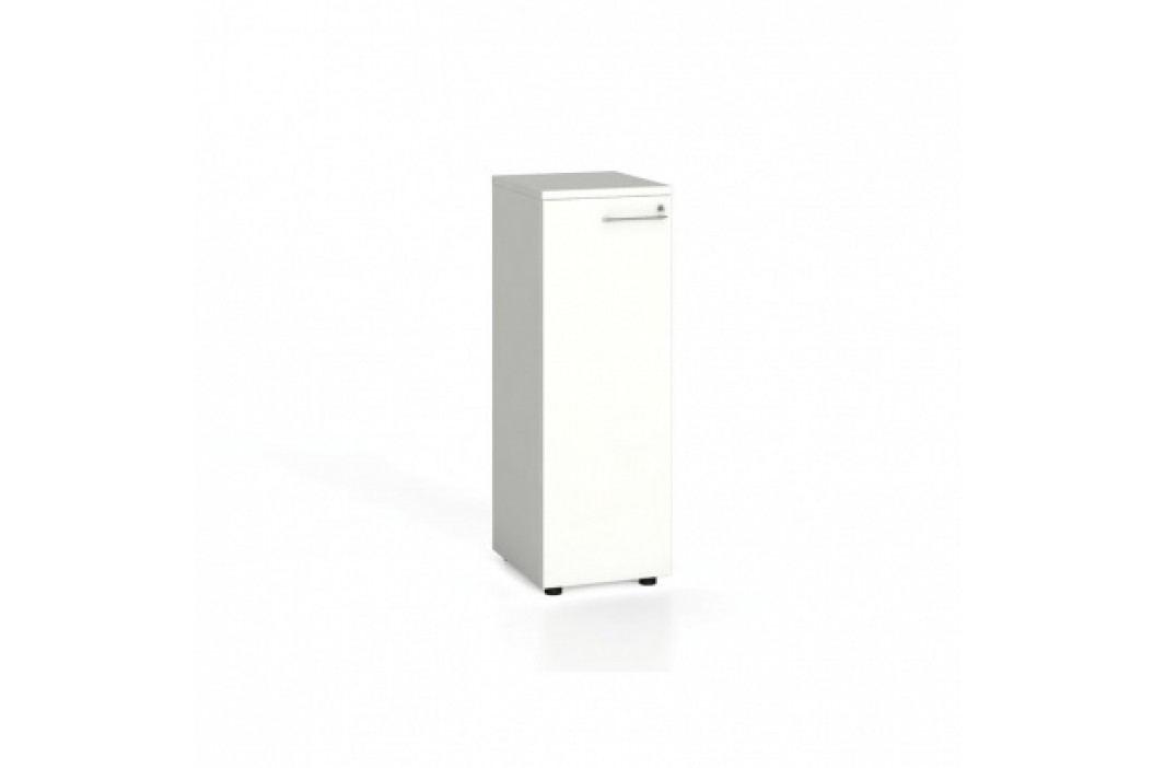 Kancelářská skříň s dveřmi, 1087x400x420 mm, bílá