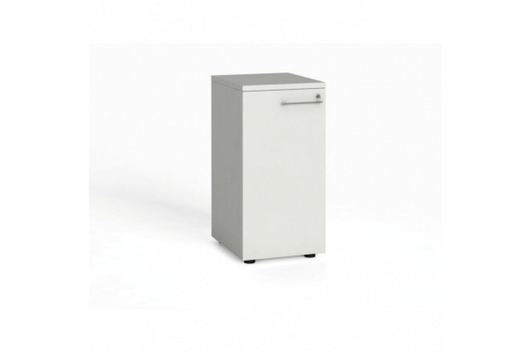 Kancelářská skříň s dveřmi, 740x400x420 mm, bílá
