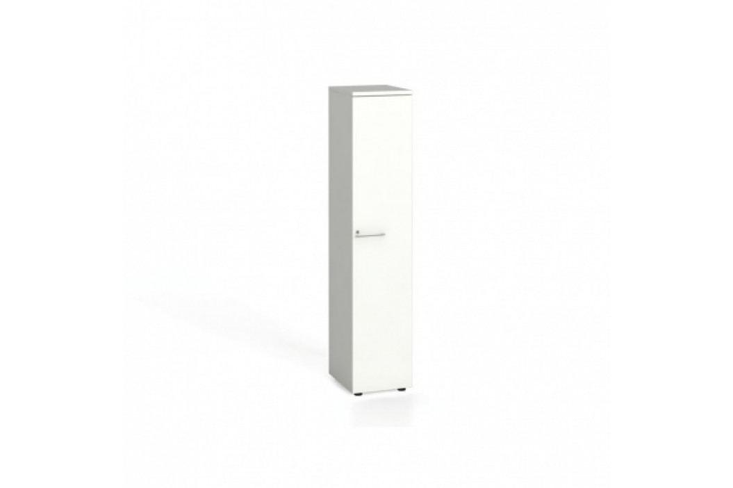 Kancelářská skříň s dveřmi, 1781x400x420 mm, bílá