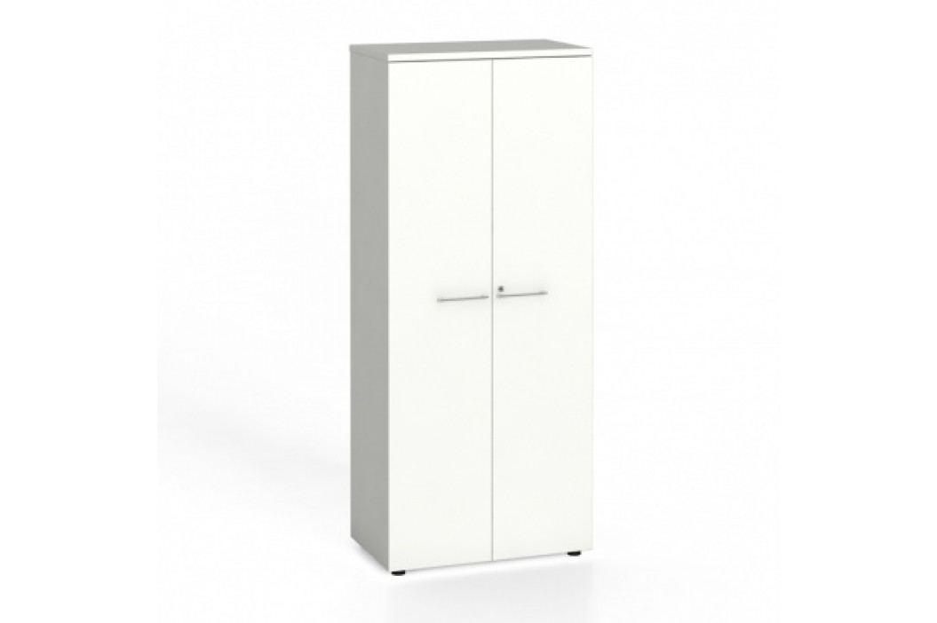 Kancelářská skříň s dveřmi, 1781x800x420 mm, bílá