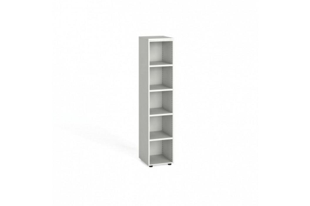 Kancelářský regál, 1781x400x420 mm, bílá