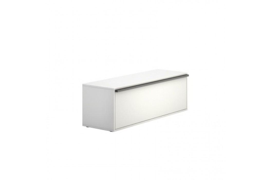 PLAN Skříňka nízká dlouhá BOARDS white