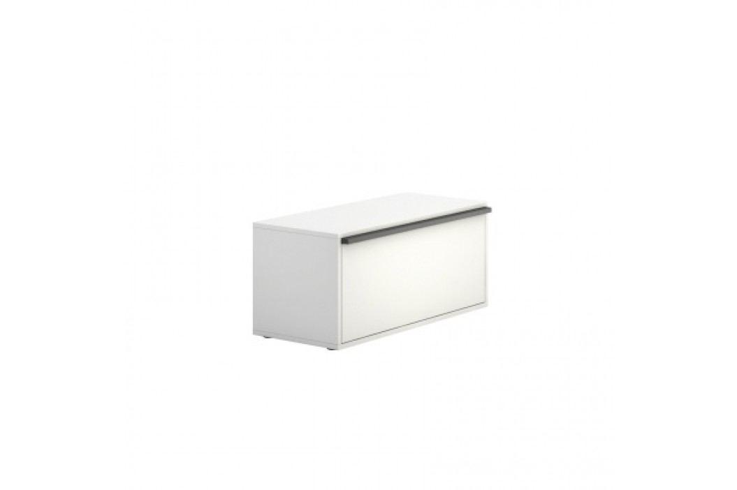 PLAN Skříňka nízká krátká BOARDS white