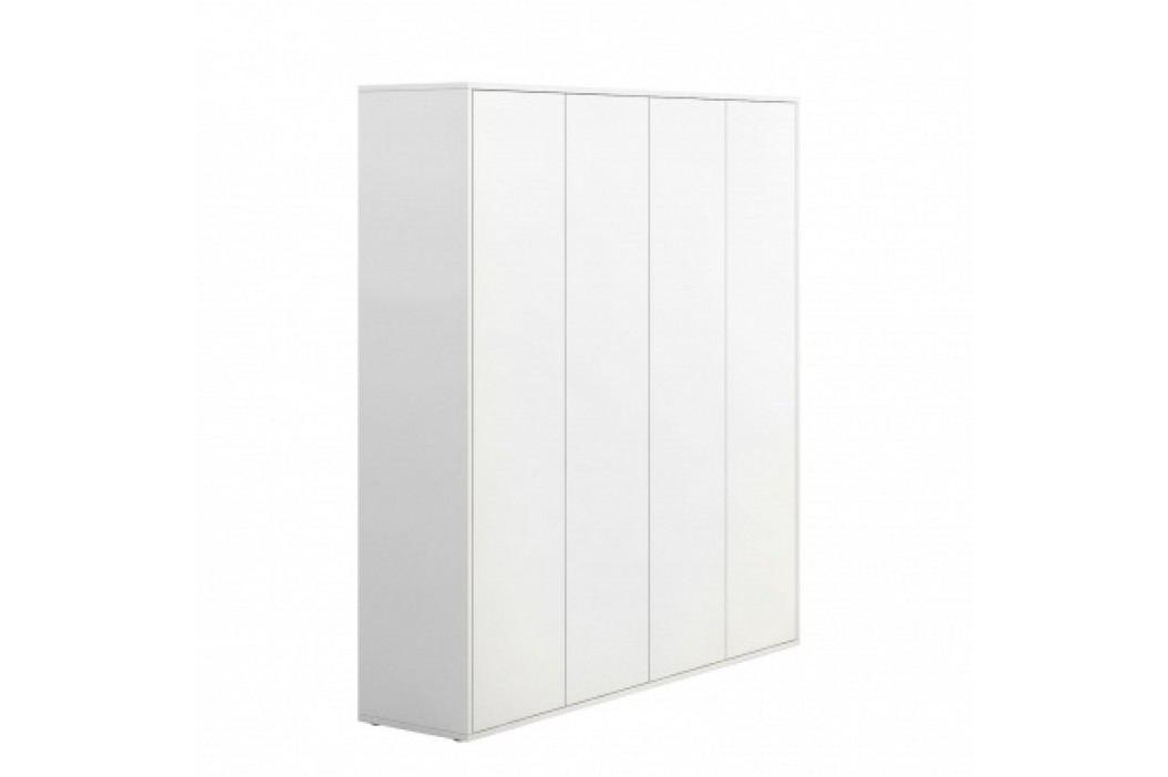 PLAN Skříň vysoká s dveřmi BLOCK white