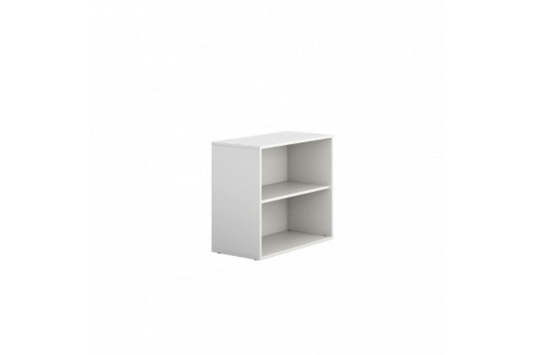 PLAN Skříňka nízká otevřená krátká BLOCK white