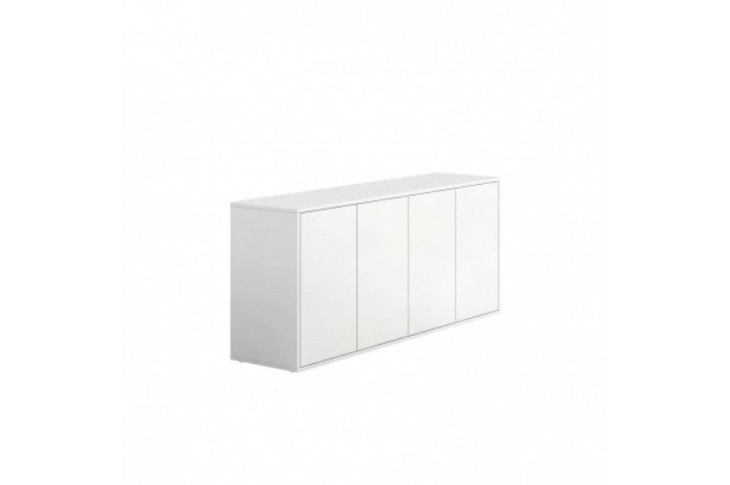 PLAN Skříňka nízká s dvířky BLOCK white