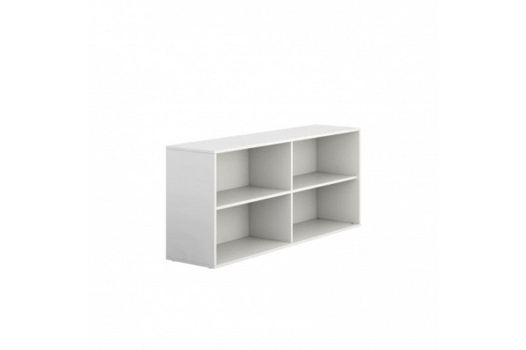 PLAN Skříňka nízká otevřená dlouhá BLOCK white