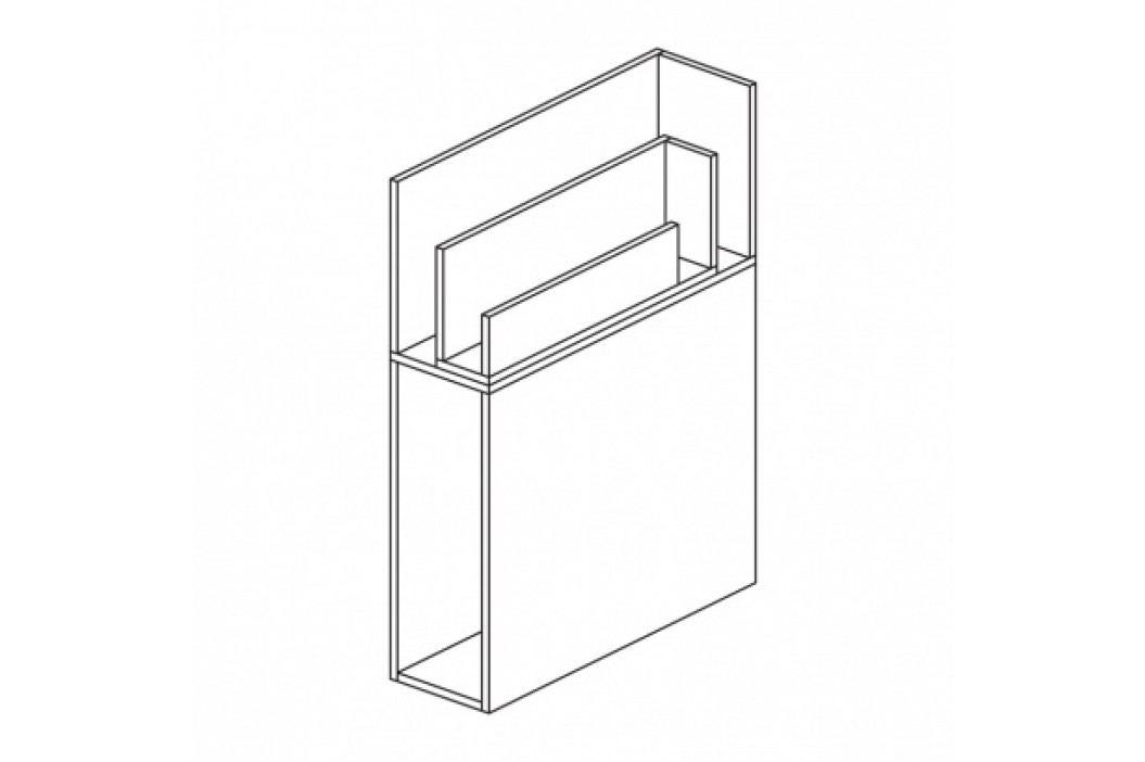 Přístavná skříňka rohová - levá WHITE LAYERS