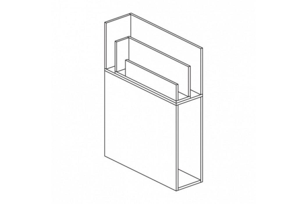 Přístavná skříňka rohová - pravá WHITE LAYERS